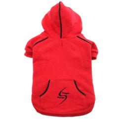 Scarlet Red Sport Dog Hoodie