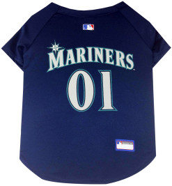 Seattle Mariners MLB dog jersey back