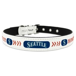 Seattle Mariners leather dog collar
