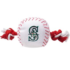 Seattle Mariners plush baseball rope dog toy