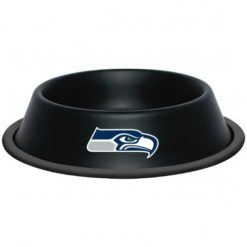 Seattle Seahawks Black Stainless Dog Bowl