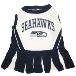 Seattle Seahawks leather NFL dog cheerleader dress