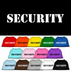 Security Screenprint t-shirt sleeveless