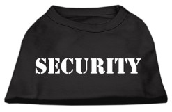 Security Screenprint t-shirt sleeveless black