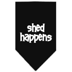 Shed Happens dog bandana black