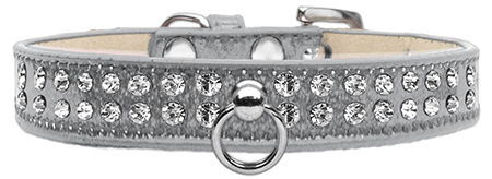 Silver Dog Collar with Czech Crystals