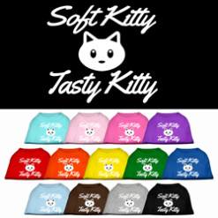 Soft Kitty Tasty Kitty bubble screen print sleeveless shirt colors