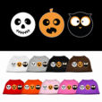 Spooky Trio Skull Pumpkin and Owl Screenprint Dog Shirts