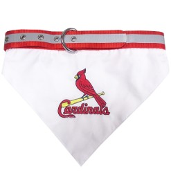 St Louis Cardinals MLB dog bandana and collar
