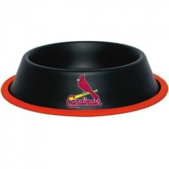 St Louis Cardinals Stainless Black Dog Bowl