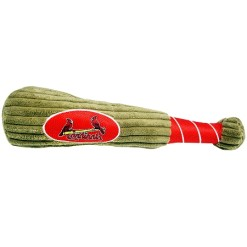 St. Louis Cardinals MLB dog plush baseball bat