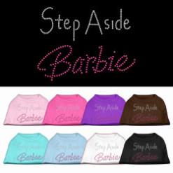 Step aside barbie rhinestones dog t-shirt colors