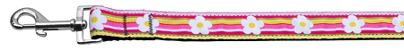 Striped Daisy Spring Dog Leash