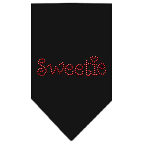 Sweetie rhinestone dog bandana black