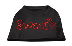Sweetie rhinestones dog t-shirt black