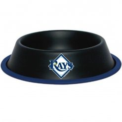 Tampa Bay Rays MLB Stainless Black Dog Bowl