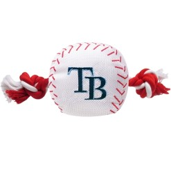 Tampa Bay Rays MLB dog ball and rope toy