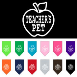 Teacher's Pet Apple dog bandana