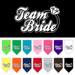 Team Bride ring dog bandana