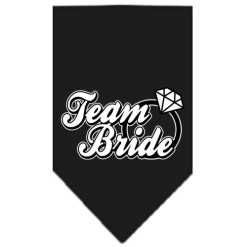 Team Bride ring dog bandana black