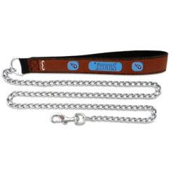 Tennessee Titans leather dog chain leash