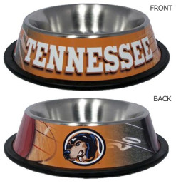 Tennessee Volunteers stainless dog bowl