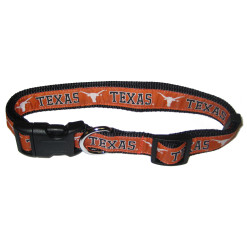 Texas Longhorns NCAA adjustable nylon dog collar