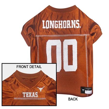 Texas Longhorns NCAA dog jersey