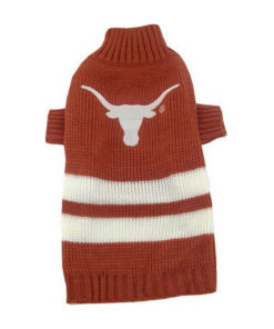 Texas Longhorns Turtleneck Dog Sweater