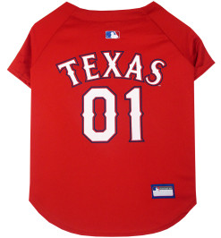 Texas Rangers MLB dog jersey back