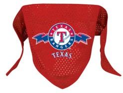 Texas Rangers Mesh Dog Bandana