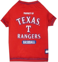 Texas Rangers baseball MLB dog tee shirt