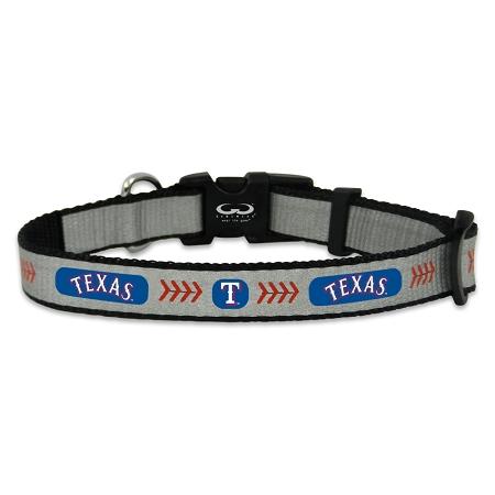 Texas Rangers reflective dog collar