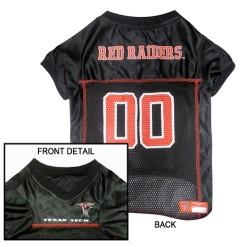 Texas Tech Red Raiders NCAA dog jersey