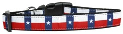 Texas state flag adjustable dog collar