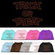 Trick or Treat rhinestone dog shirt Halloween