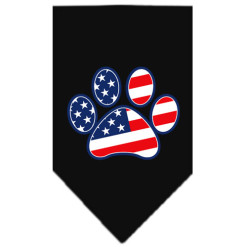 USA Flag American dog paw black