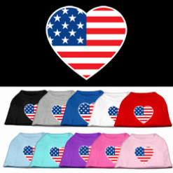 USA Heart colors t-shirt novelty
