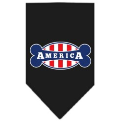 USA Stripe flag bone America dog bandana black