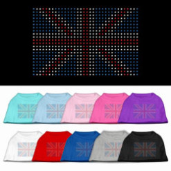 United Kingdom flag rhinestone sleeveless dog t-shirt colors