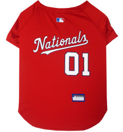 Washington Nationals MLB dog jersey back