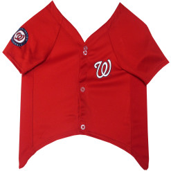 Washington Nationals MLB dog jersey front