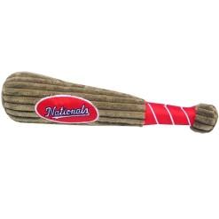 Washington Nationals MLB dog plush baseball bat