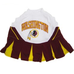 Washington Redskins NFL dog cheerleader dress