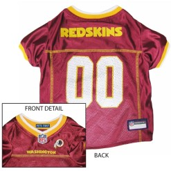 Washington Redskins NFL dog jersey