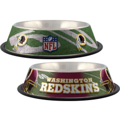 Washington Redskins NFL stainless dog bowl