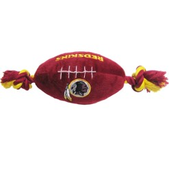 Washington Redskins plush football dog toy