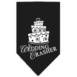 Wedding Crasher dog bandana black