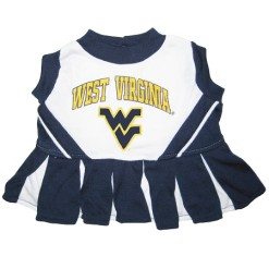 West Virginia Mountaineers NCAA dog cheerleader dress