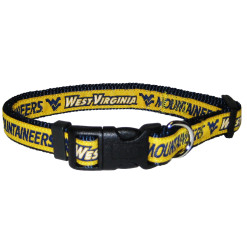 West Virginia Mountaineers NCAA nylon dog collar